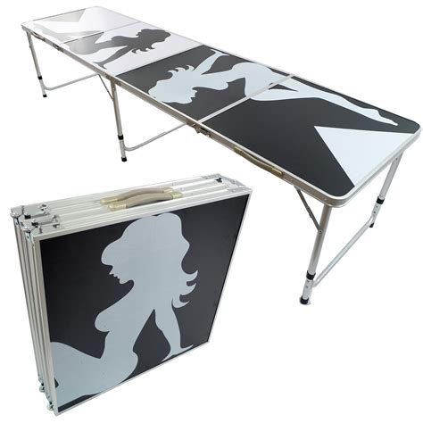 Folding Table With Handle Pong Aluminum Folding Table W Handle 8 Quot Bp 01 Easy Source Inc