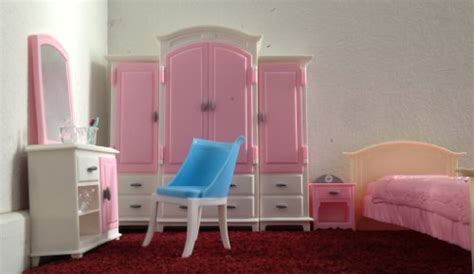 barbie sized doll house barbie size dollhouse furniture bed room wardrobe set dollhouse shop