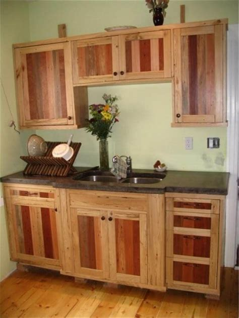pallet kitchen cabinet doors unique ideas pallets designs