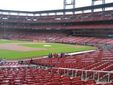 busch stadium section 165 field level outfield busch stadium baseball seating