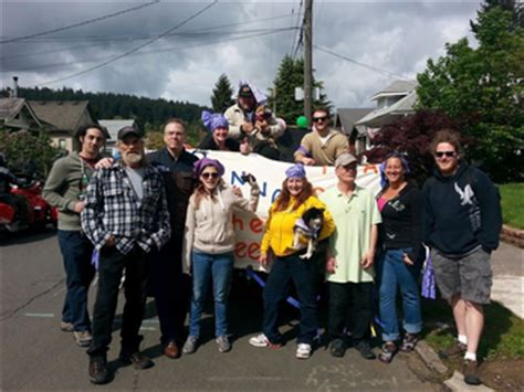 meter readers from the portland water bureau pwb nick was proud to march with marc jolin and our partners from