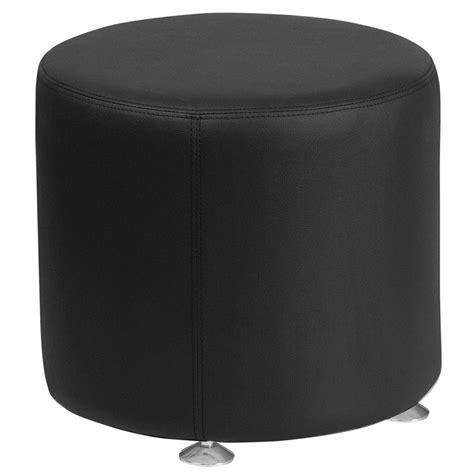 black round ottoman avalon modern black 18 in round ottoman eurway