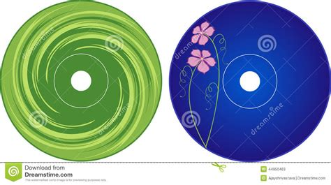 cd label design template cd dvd label design template stock vector illustration