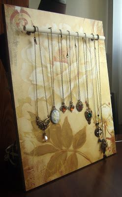peacock tres chic diy jewelry display   wood  dowel rods  necklaces bracelets