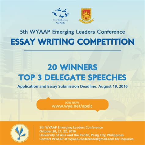 Asia Writes Essay Competition by World Youth Alliance Wyaap Launches Essay Writing Competition