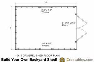 gambrel floor plans 10x14 small barn shed plans gambrel shed plans