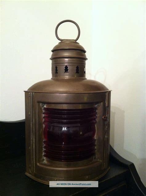 Vintage Brass Ship Lantern Antique Nautical Brass Ship