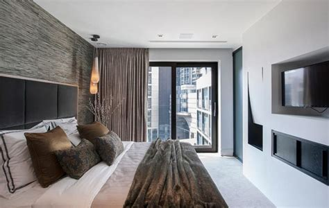 Soft taupe curtains with concealed track roman house penthouse bedrooms pinterest