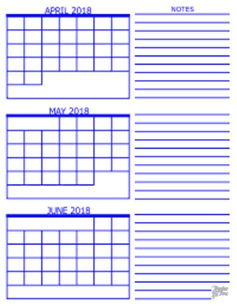 Calendar 2018 May June 3 Month Calendar 2018