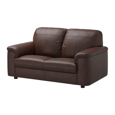 ikea leather loveseat timsfors loveseat mjuk kimstad dark brown ikea