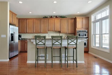 kitchen island bar height pictures of kitchens traditional light wood kitchen cabinets page 6