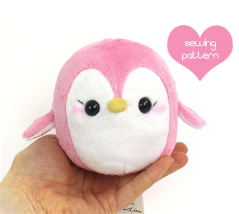 sewing pattern stuffed animal pdf sewing pattern penguin stuffed animal easy kawaii