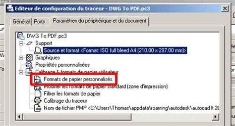 format dwg ouvrir autocad cr 233 er un format d impression personnalis 233 tg