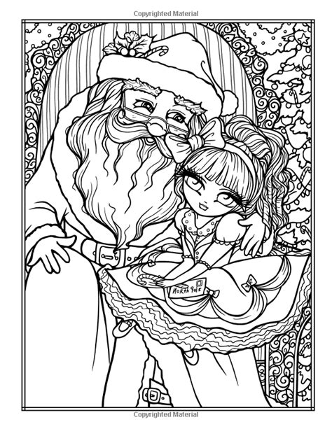 festive christmas colouring book 1908072490 amazonsmile a whimsy girls christmas coloring book festive girls fairies more