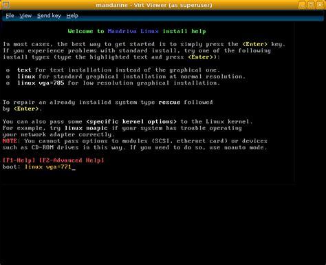 tutorial linux framebuffer mandriva 2010 2 vm installation guide