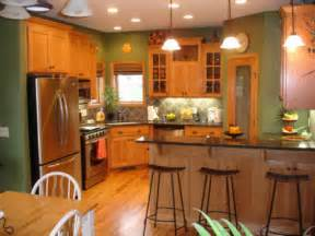 Kitchen Cabinet Wood Colors Kitchen Paint Colors With Wood Cabinets Home Design Ideas