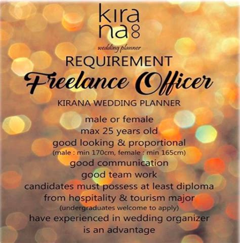 Kirana Wedding Organizer Bandung by Freelance Officer Studentjob Indonesia