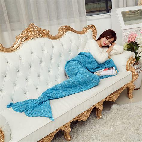 Selimut Duyung Selimut Anak Selimut Murah selimut rajut model putri duyung 80 x 190 cm