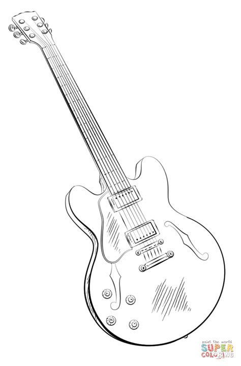 spanish guitar coloring pages   print