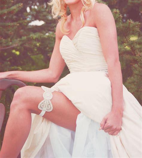garters for brides beaded bridal garter bow design onewed