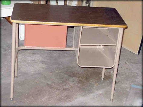 Old Metal School Desk Home Furniture Design School Desks For Home