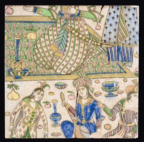 piastrelle terracotta piastrella in terracotta policroma decorata con scena di
