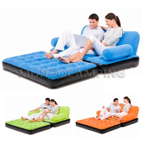 sillon inflable sillon inflable bestway doble cama 2 en 1 mundo cing