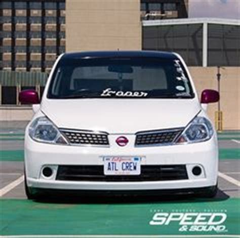nissan tiida 2008 modified modified nissan versa tiida latio hatchback in white
