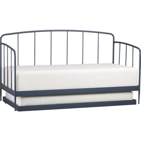 crate and barrel day bed rory blue daybed with trundle