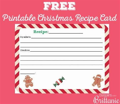 cookie exchange recipe card template free printable recipe card recipes