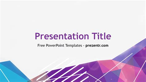 free modern abstract powerpoint template prezentr
