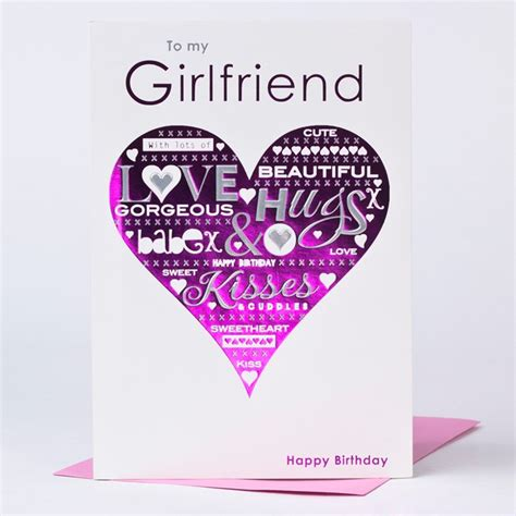Birthday Gift Card For Girlfriend - birthday cards for girlfriend gangcraft net