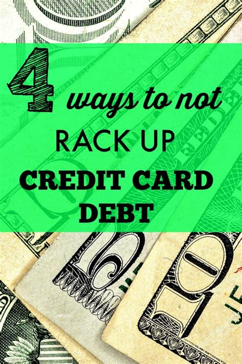 Rack Up Debt by How To Not Rack Up Credit Card Debt Fitnancials