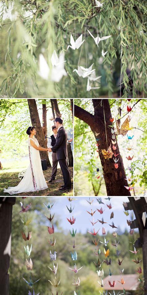 Origami Crane Wedding Decoration - five ways to decorate your garden ceremony polka dot