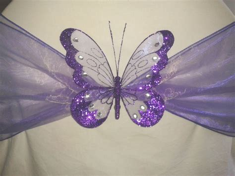 butterfly decorations wedding decoration clip on butterfly large glitter