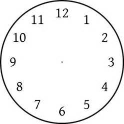 blank clock faces homework