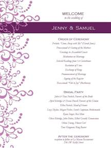 Free Printable Wedding Program Templates by Wedding Program Templates Free Weddingclipart