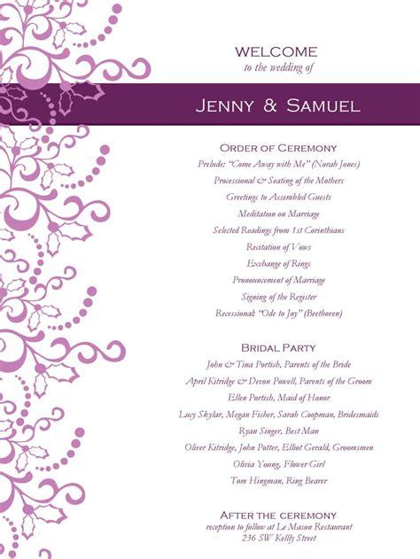 wedding program templates  weddingclipartcom