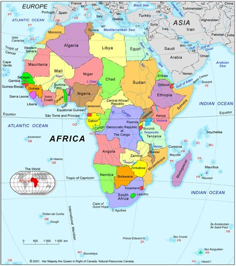 map  africa political pictures