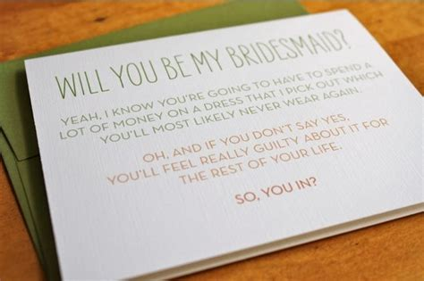 Honest Invitation To Be A Bridesmaid Maids Brides And So True Will You Be My Bridesmaid Letter Template
