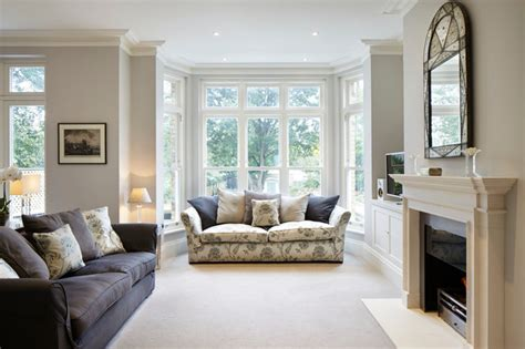 Two Different Sofas In Living Room Kingston Upon Thames Surrey Living Room By Dyer Grimes Architecture