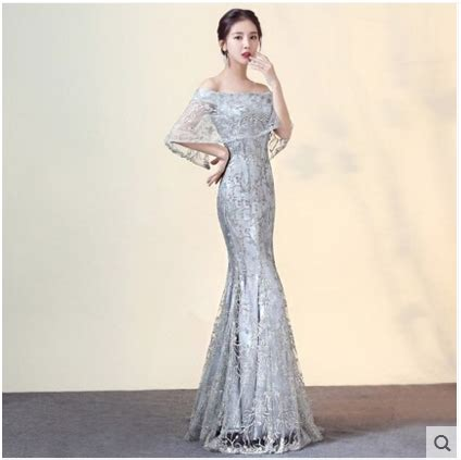 New Arrival Gorgeous Style Dress Evening Dresses Vestido De Festa A Line Long Gown Pattern Boat Neck Dress Free Shipping In Evening Dresses From