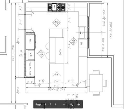 kitchen layout clearances kitchen island clearance