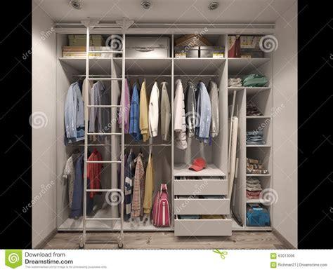 guardarropa hotel visualizaci 243 n 3d del cuarto del guardarropa en tonos