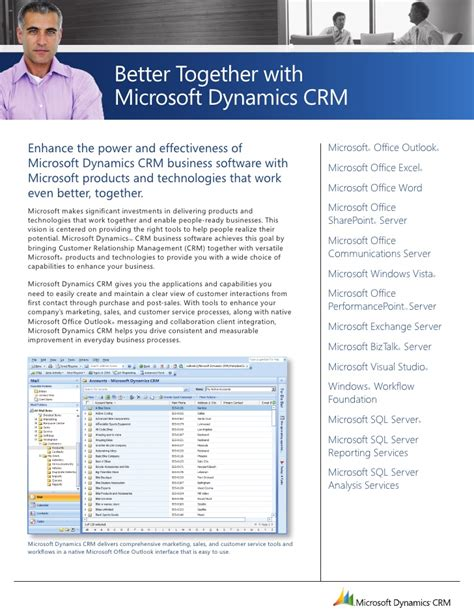 Microsoft Dynamics Crm Better Together Guide
