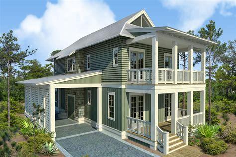 Beach Style House Plan   4 Beds 4.50 Baths 2493 Sq/Ft Plan