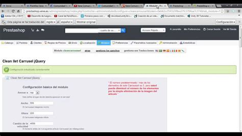 tutorial prestashop youtube tutorial 6 prestashop instalar un modulo cleancarroussel y