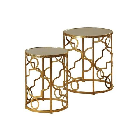 Gold Nesting Tables by Style Craft 2 Gold Nesting Tables