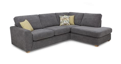 dfs corner sofa astaire left hand facing arm open end corner sofa sherbet