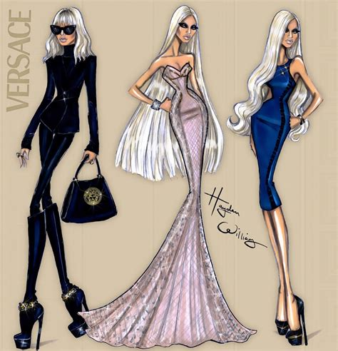 fashion illustration versace hayden williams fashion illustrations donatella versace